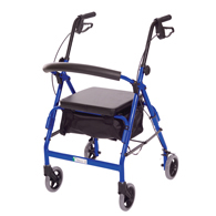 Essential Medical W1650B-1 Featherlight Walker-Loop Hand Brakes-Blue